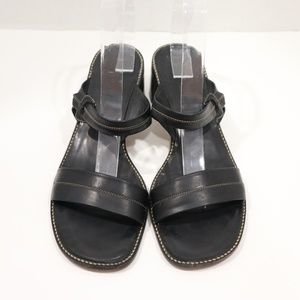 Cole Haan Womens Black Leather Sandals Size 8.5